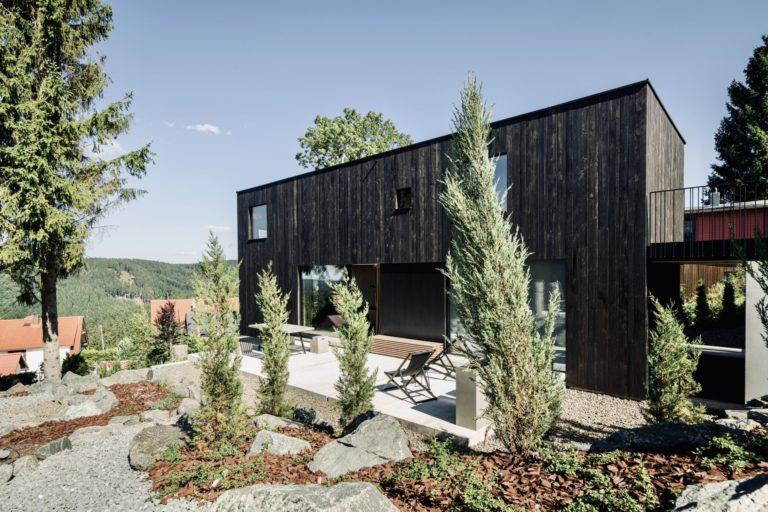 Rennsteig Luxus Chalet Toni Thüringer Wald Außenbereich