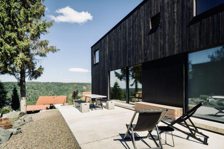 Rennsteig Luxus Chalet Toni Thüringer Wald Terasse